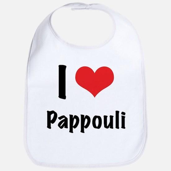 "I ""heart"" Pappouli Bib"