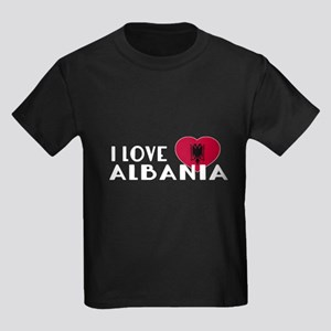 I Love Albania Kids Dark T-Shirt