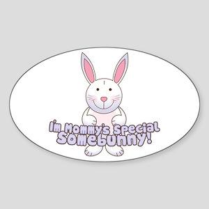 Mommy's Somebunny Boy Oval Sticker