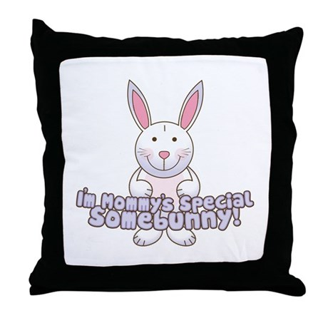 Mommy's Somebunny Boy Throw Pillow