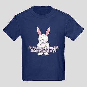 Mommy's Somebunny Boy Kids Dark T-Shirt