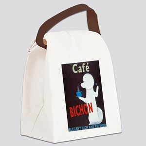 Café Bichon Canvas Lunch Bag