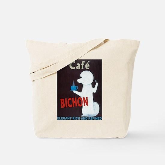 Café Bichon Tote Bag