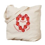 Rose Wreath, Valentine Tote Bag