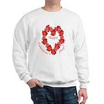Rose Wreath, Valentine Sweatshirt