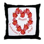 Rose Wreath, Valentine Throw Pillow