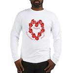 Rose Wreath, Valentine Long Sleeve T-Shirt