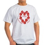 Rose Wreath, Valentine Light T-Shirt