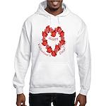 Rose Wreath, Valentine Hooded Sweatshirt