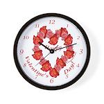 Rose Wreath, Valentine Wall Clock