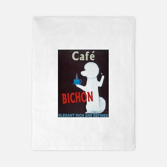Café Bichon Twin Duvet Cover