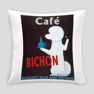Café Bichon Everyday Pillow