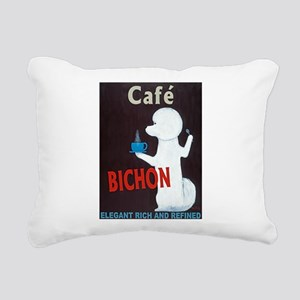Café Bichon Rectangular Canvas Pillow