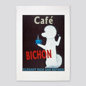 Café Bichon 5'x7'Area Rug