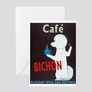 Café Bichon Greeting Card