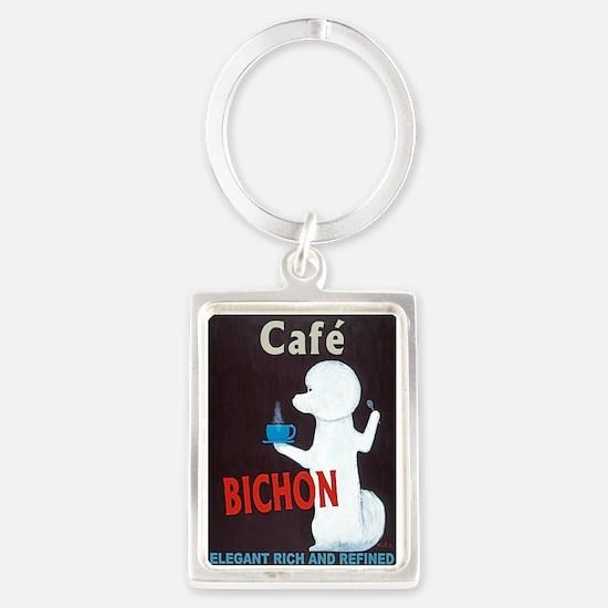 Café Bichon Portrait Keychain