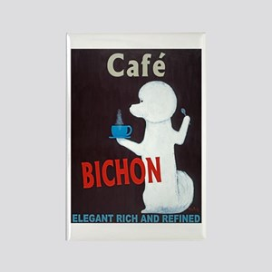 Café Bichon Rectangle Magnet