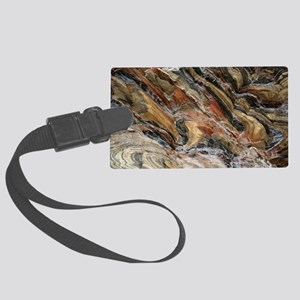 Rock swirls in nature Large Luggage Tag