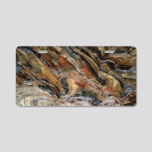 Rock swirls in nature Aluminum License Plate