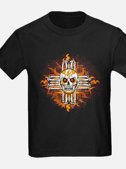 FLAMING SUGAR SKULL ZIA T-Shirt