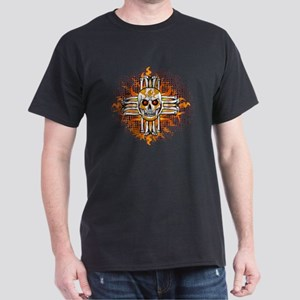 FLAMING SUGAR SKULL ZIA T-Shirt