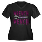 WRENCH WENCH Women's Plus Size V-Neck Dark T-Shirt
