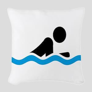 swim Woven Throw Pillow