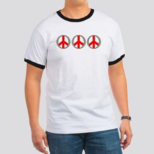 Internation Three Peace Symbol Ringer T