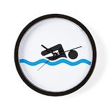 Swimming Wall Clocks
