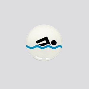 swimming Mini Button