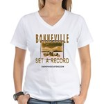 SET A RECORD Women's V-Neck T-Shirt
