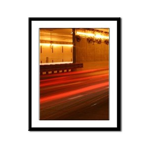 LAX Tunnel Vertical Framed Panel Print