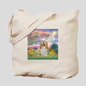 Cloud Angel & Cocker (Buff) Tote Bag