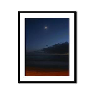 Malibu Beach Moon Framed Panel Print