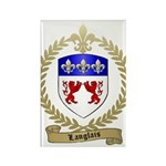 LANGLAIS Family Crest Rectangle Magnet (100 pack)