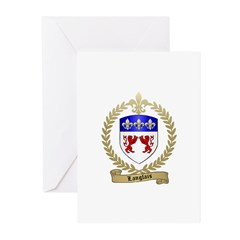 LANGLAIS Family Crest Greeting Cards (Pk of 10)