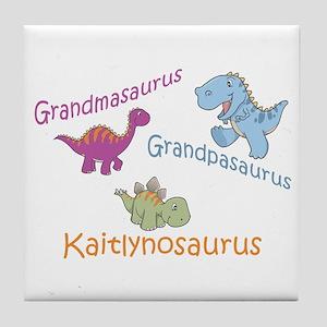 Grandma, Grandpa & Kaitlynosa Tile Coaster