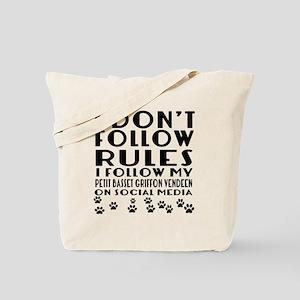 I Follow My Petit Basset Griffon Vendeen Tote Bag