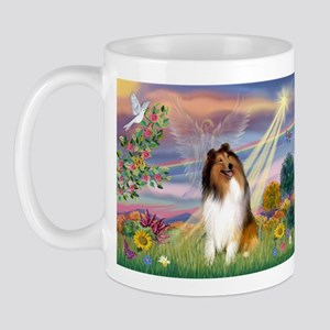 Cloud Angel & Collie Mug