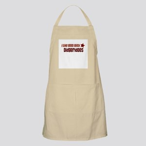 I like guys with Didgeridoos BBQ Apron