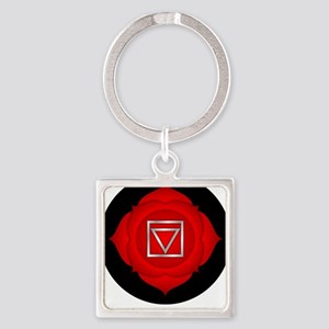 Be Grounded. Square Keychain