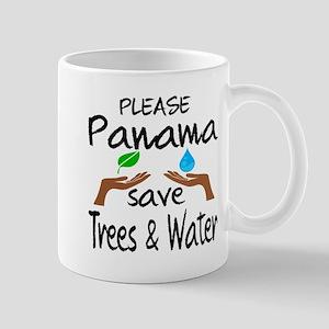 Please Panama Save Trees & Water 11 oz Ceramic Mug