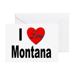 I Love Montana Greeting Cards (Pk of 10)