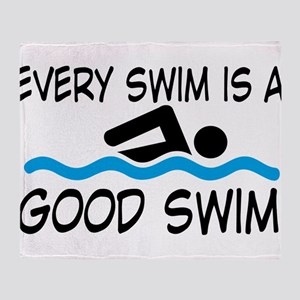 swimming Throw Blanket