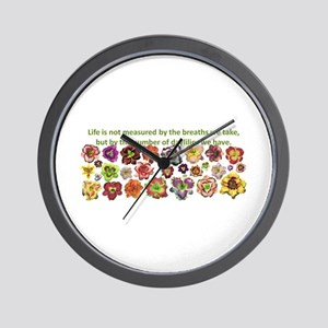 Number of daylilies Wall Clock