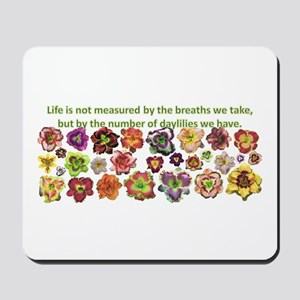 Number of daylilies Mousepad