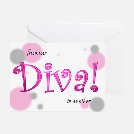 Diva Bubbles Greeting Card