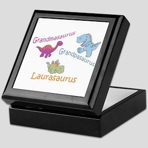 Grandma, Grandpa & Lauraosaur Keepsake Box