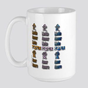 Multi-Love x3 Large Mug