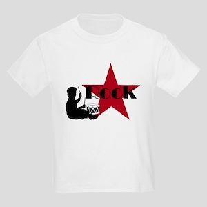 Drummer Rock Star Kids Light T-Shirt